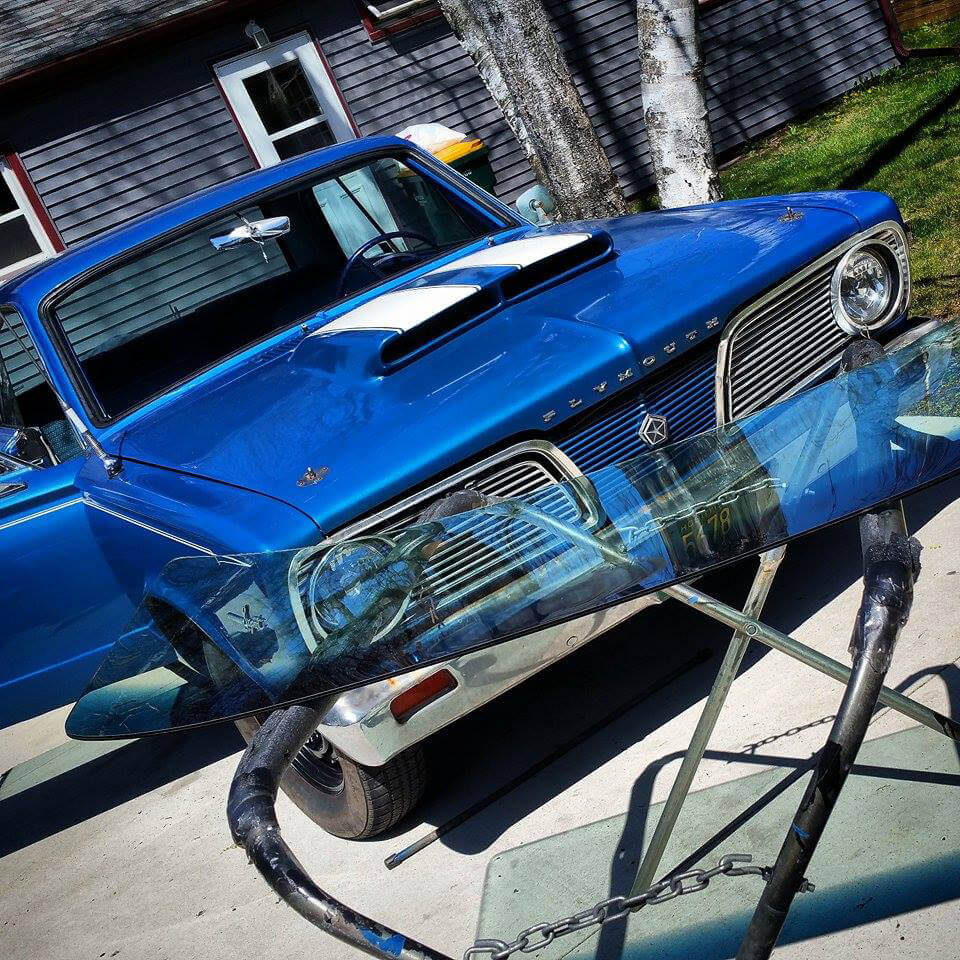 1966 Plymouth Classic Car Windshield Replacement