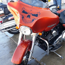 Motorcycle Street Glide With Harley Davidson Vinyl Graphic in Rock County, WI