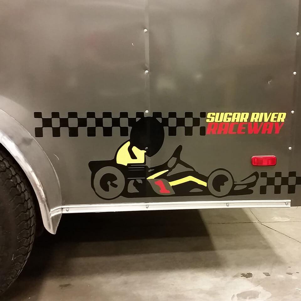 Sugar River Raceway Vehicle Vinyl Graphic Installation